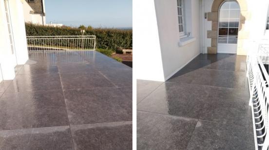 Terrasse en gré cérame Glocal absolut (dalles d'1,20m)
